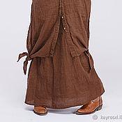 Одежда ручной работы. Ярмарка Мастеров - ручная работа Бохо платье 4-4 Коричневый. Handmade.
