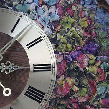 Для дома и интерьера ручной работы. Ярмарка Мастеров - ручная работа Настенные часы Сад с гортензиями большие с циферблатом. Handmade.