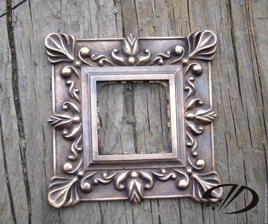 Зеркала ручной работы. Ярмарка Мастеров - ручная работа. Купить Рамка бронзовая. Handmade. Золотой, бронза, бронзовый, коричневый