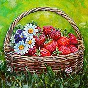 Рисуем ягоды маслом