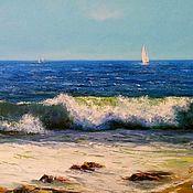 Картины и панно handmade. Livemaster - original item The picture with the sea. The Mediterranean sea, Sailboats Yachts. Handmade.