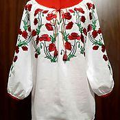 Одежда handmade. Livemaster - original item Women`s embroidered blouse