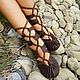 """Коричневые кожаные сандалии """"Crazy Horse"""", Сандалии, Лиссабон,  Фото №1"""