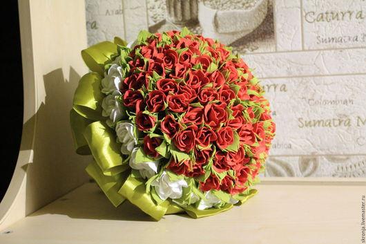 Свадебные цветы ручной работы. Ярмарка Мастеров - ручная работа. Купить Букет дублер невесты. Handmade. Ярко-красный