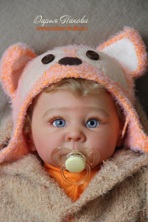 Куклы-младенцы и reborn ручной работы. Ярмарка Мастеров - ручная работа. Купить Лизёнок. Handmade. Оранжевый, мохер