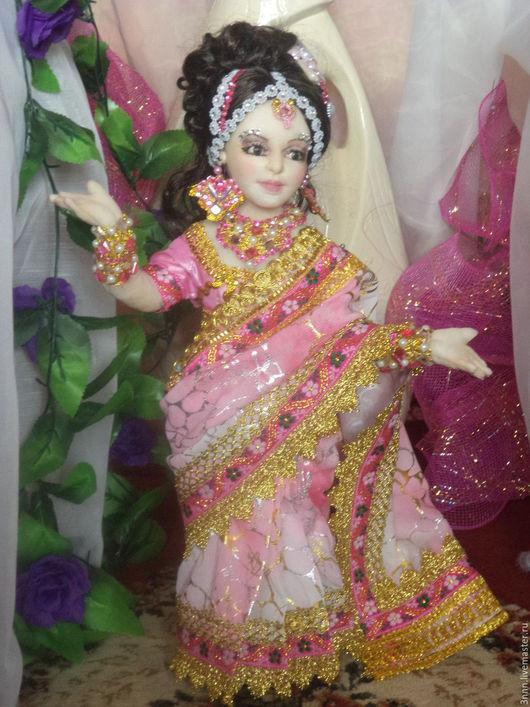Коллекционные куклы ручной работы. Ярмарка Мастеров - ручная работа. Купить Индианочка. Handmade. Розовый, Новый Год, тонкий трикотаж