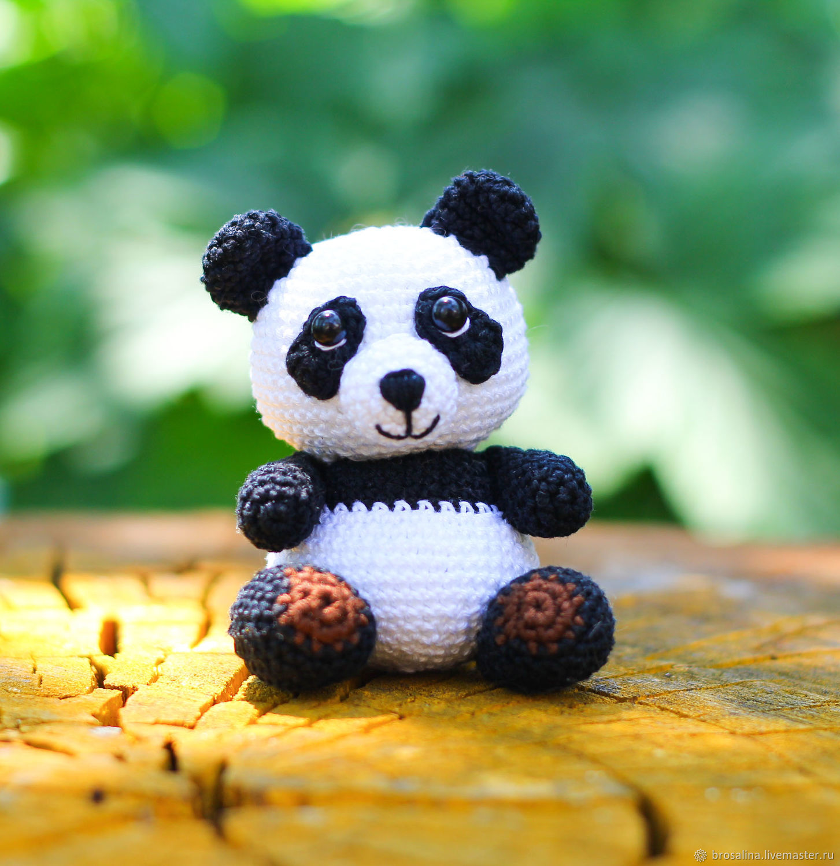 Схема вязания мишки панда 58