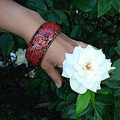 """Украшения ручной работы. Ярмарка Мастеров - ручная работа Браслет """"Багровая роза"""". Handmade."""