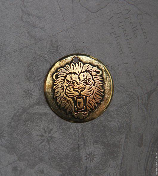 Лев, латунь