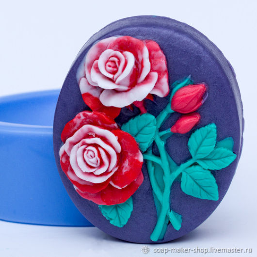 Silicone mold for soap 'Rose', Form, Shahty,  Фото №1