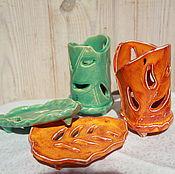 Для дома и интерьера ручной работы. Ярмарка Мастеров - ручная работа Набор для ванной Резные листья. Handmade.