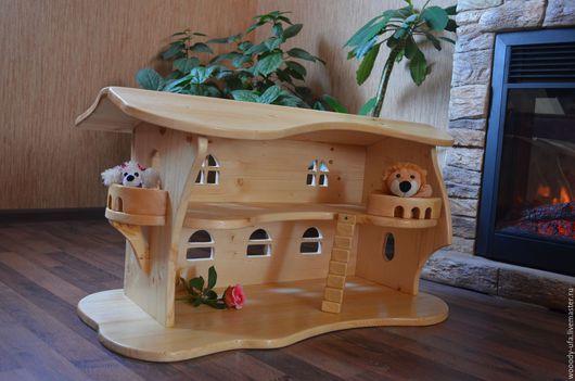 Кукольный дом ручной работы. Ярмарка Мастеров - ручная работа. Купить Кукольный домик из массива дерева. Handmade. Кукольный дом