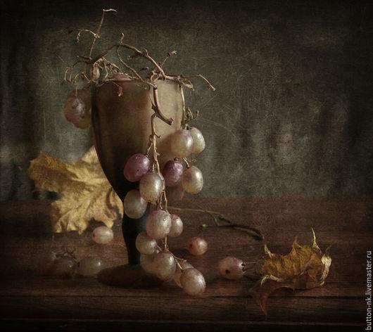 Фотокартины ручной работы. Ярмарка Мастеров - ручная работа. Купить Натюрморт Виноград осенний. Handmade. Бежевый, коричневый, желтый, осень