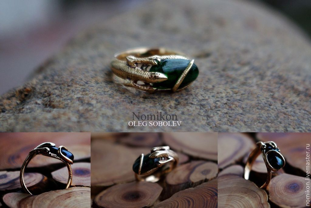 Ring lizard, it is possible to manufacture gold or silver, Rings, St. Petersburg,  Фото №1