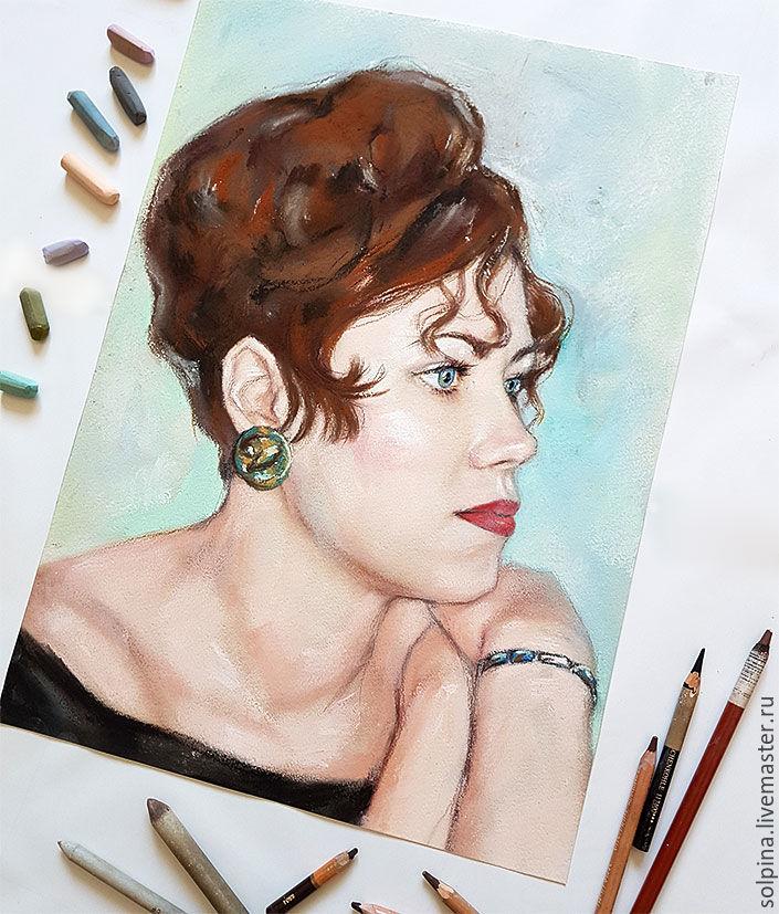 Портрет пастелью по фото, Картины, Иркутск, Фото №1