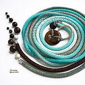 Аксессуары handmade. Livemaster - original item Thin belt rope made of beads with sardonyx and amazonite turquoise. Handmade.