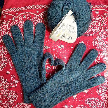 Аксессуары ручной работы. Ярмарка Мастеров - ручная работа Перчатки для любимого мужчины из очень тёплой пряжи с Яком. Handmade.