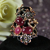 "Украшения handmade. Livemaster - original item Ring with Ethiopian opal ""magic"" silver, gold. Handmade."