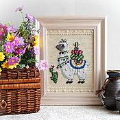 Картины и панно handmade. Livemaster - original item Snow-white Lama. Handmade.