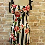 Одежда handmade. Livemaster - original item Sundress Dolce Gabbana Roses and strip. Handmade.