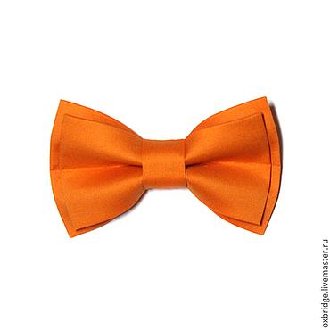 Аксессуары ручной работы. Ярмарка Мастеров - ручная работа Галстук-бабочка оранжевый из хлопка. Handmade.