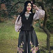 Одежда handmade. Livemaster - original item Warm embroidered suit in ethno-style