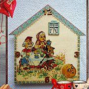Для дома и интерьера handmade. Livemaster - original item kids wall clock gingerbread. Handmade.