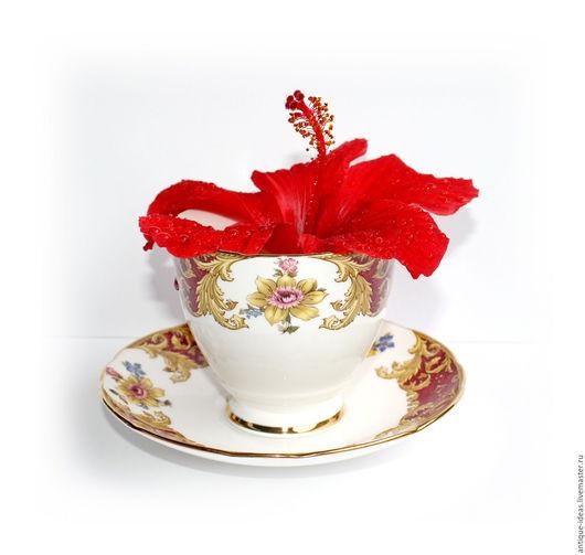 Винтажная посуда. Ярмарка Мастеров - ручная работа. Купить Английский фарфор Royal stafford Чайная пара. Handmade. Антиквариат, кофейный