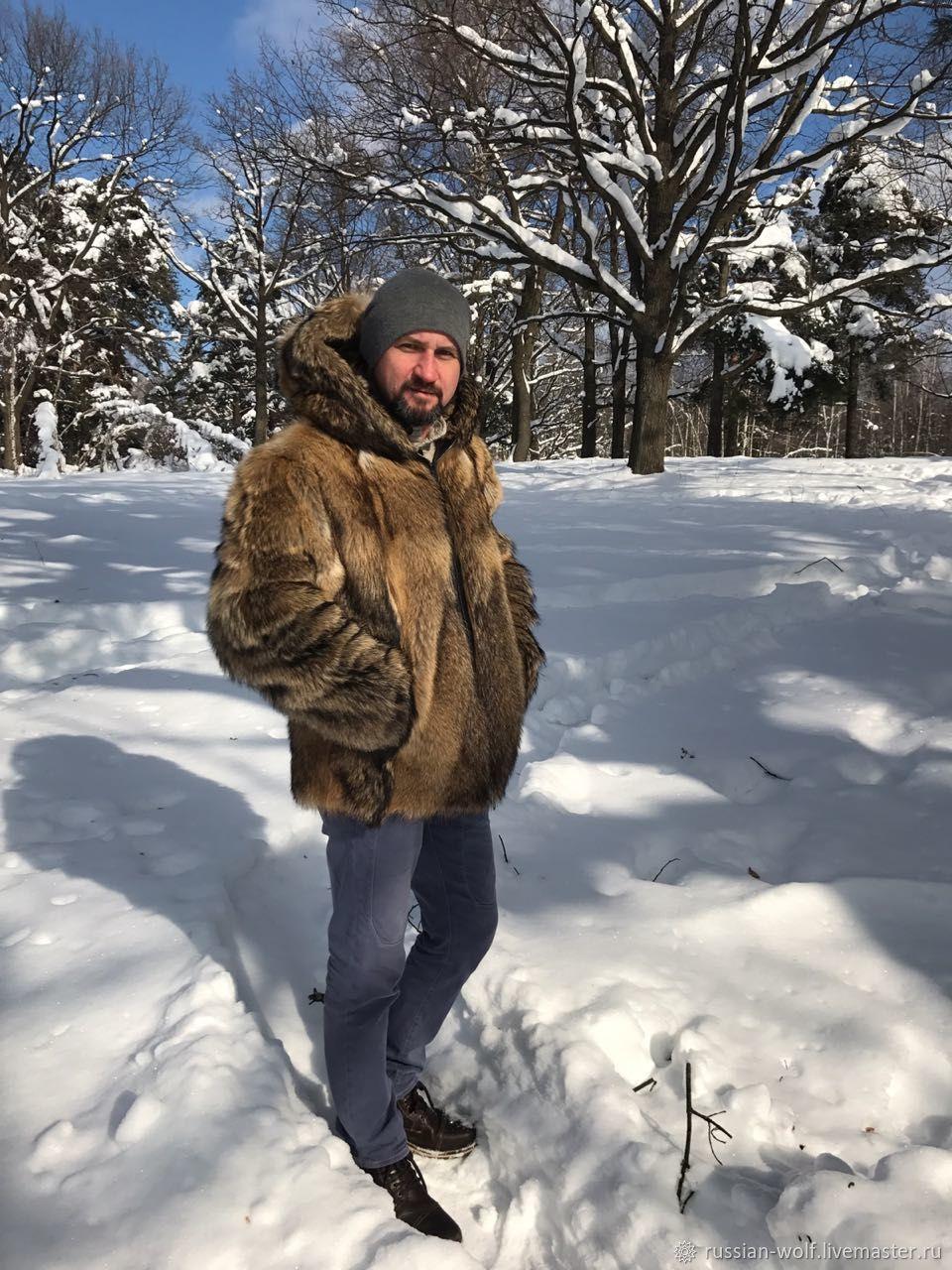 Куртка с капюшоном из натурального меха русского волка, Куртки, Дубна, Фото №1