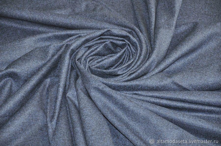 Шерсть костюмная синяя из Италии, Ткани, Москва,  Фото №1