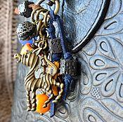 Сумки и аксессуары handmade. Livemaster - original item Keychain on your bag,keys, backpack or car AFRICAN MOTIFS. Handmade.