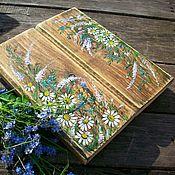 handmade. Livemaster - original item summer in the village... Panel on an old tree. painting. Handmade.
