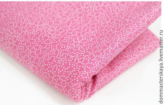Шитье ручной работы. Ярмарка Мастеров - ручная работа. Купить 100% хлопок, Корея, розовая с точками. Handmade. Розовый, черника