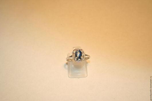 Кольца ручной работы. Ярмарка Мастеров - ручная работа. Купить Серебряное кольцо с натуральным иолитом, серебро 925. Handmade.
