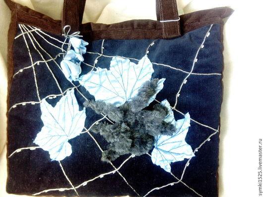Женские сумки ручной работы. Ярмарка Мастеров - ручная работа. Купить сумка с паучком. Handmade. Тёмно-синий, интересный подарок