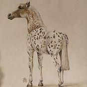 """Картины ручной работы. Ярмарка Мастеров - ручная работа Пастель """"Лошадь"""". Handmade."""