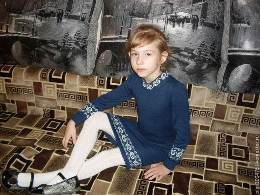 """Одежда для девочек, ручной работы. Ярмарка Мастеров - ручная работа. Купить Платье """"Школьное"""". Handmade. Комбинированный, школьная форма, шерсть"""