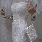 Одежда handmade. Livemaster - original item Lace wedding dress in floor.. Handmade.