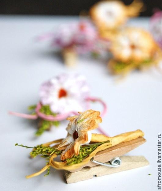 декор `Маргаритки` цветы на прищепке