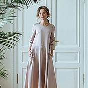 Одежда handmade. Livemaster - original item Powdery long dress. Handmade.