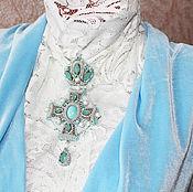 """Украшения ручной работы. Ярмарка Мастеров - ручная работа Брошь-кулон """" Королевская мята"""". Handmade."""