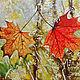 """Символизм ручной работы. Ярмарка Мастеров - ручная работа. Купить """"Вместе"""". Handmade. Оранжевый, дождь, картина, картина для интерьера"""