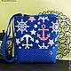 Женские сумки ручной работы. Ярмарка Мастеров - ручная работа. Купить В морском стиле.... Handmade. Синий, море