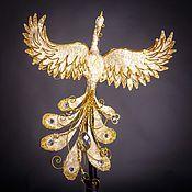 Подарки к праздникам ручной работы. Ярмарка Мастеров - ручная работа Птица счастья бело-золотая. Handmade.