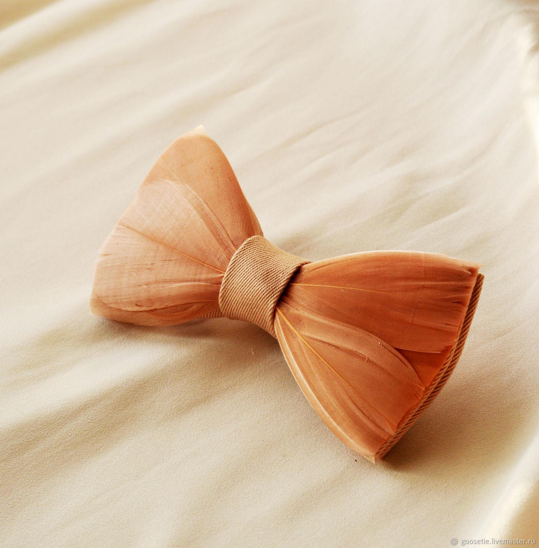 Галстук-бабочка с перьями гуся, Галстуки, Сочи,  Фото №1