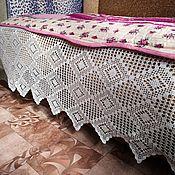 Винтажные предметы интерьера ручной работы. Ярмарка Мастеров - ручная работа Подзор на кровать бабушкин  50-е годы. Handmade.