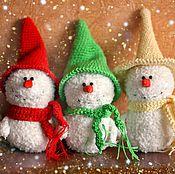 Куклы и игрушки ручной работы. Ярмарка Мастеров - ручная работа Новогодние снеговики. Handmade.