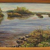 Картины и панно ручной работы. Ярмарка Мастеров - ручная работа Тихая река- Скидка 20%. Handmade.
