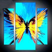 Картины и панно ручной работы. Ярмарка Мастеров - ручная работа триптих Солнечная бабочка. Handmade.