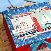 Подарки к праздникам ручной работы. Ярмарка Мастеров - ручная работа Мамины сокровища для мальчика морские синие с красным.. Handmade.